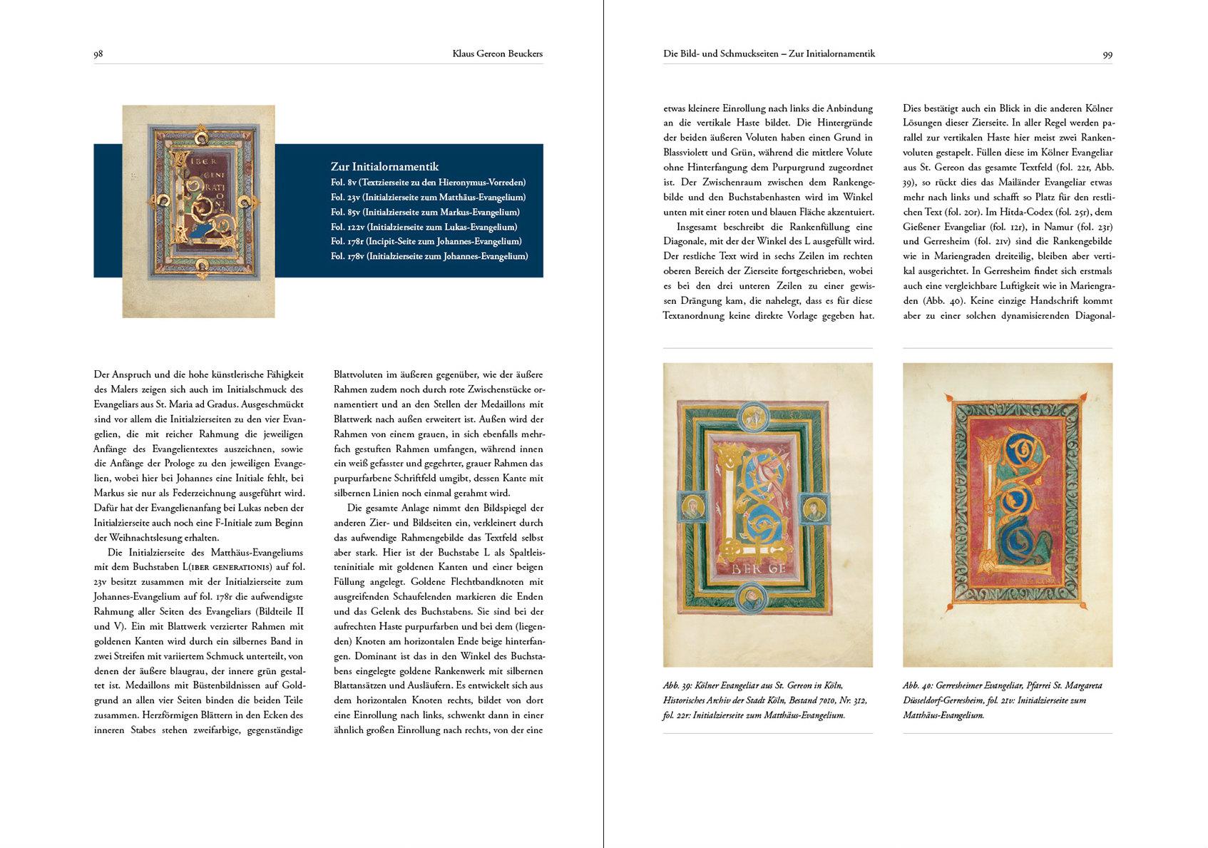 Kunstbuch-Edition des Prachtevangeliars aus Mariengraden, p. 98-99