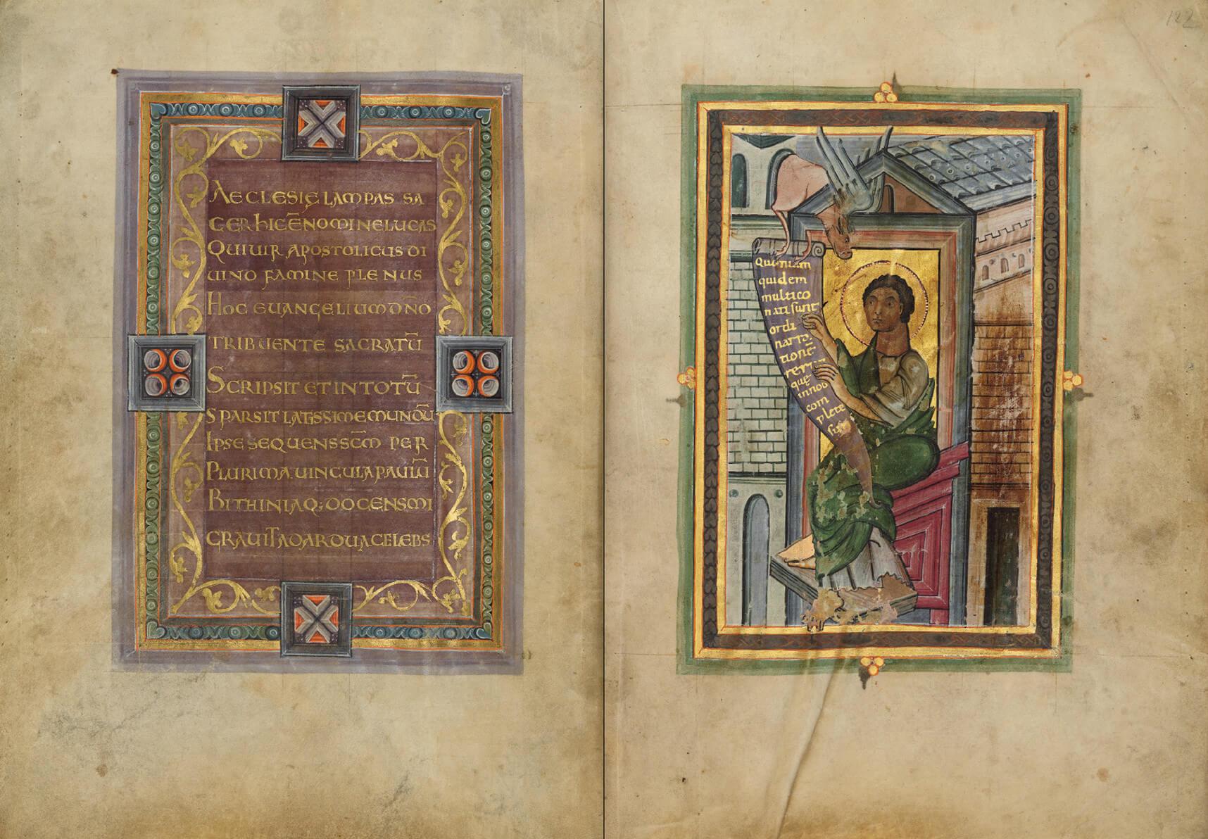 Kunstbuch-Edition des Prachtevangeliars aus Mariengraden, p. 132-133
