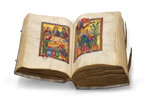 Bamberger Psalter, Faksimile-Edition, offener Band