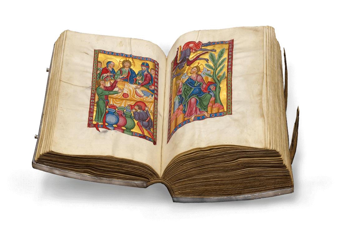 Bamberger Psalter, offener Band, fol. 60v-61r
