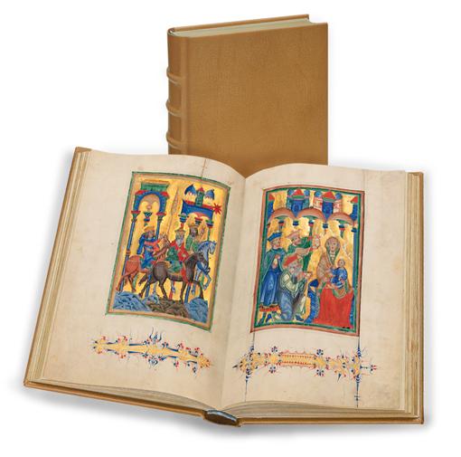Breslauer Psalter, Faksimile-Edition, Band stehend und aufgeschlagen