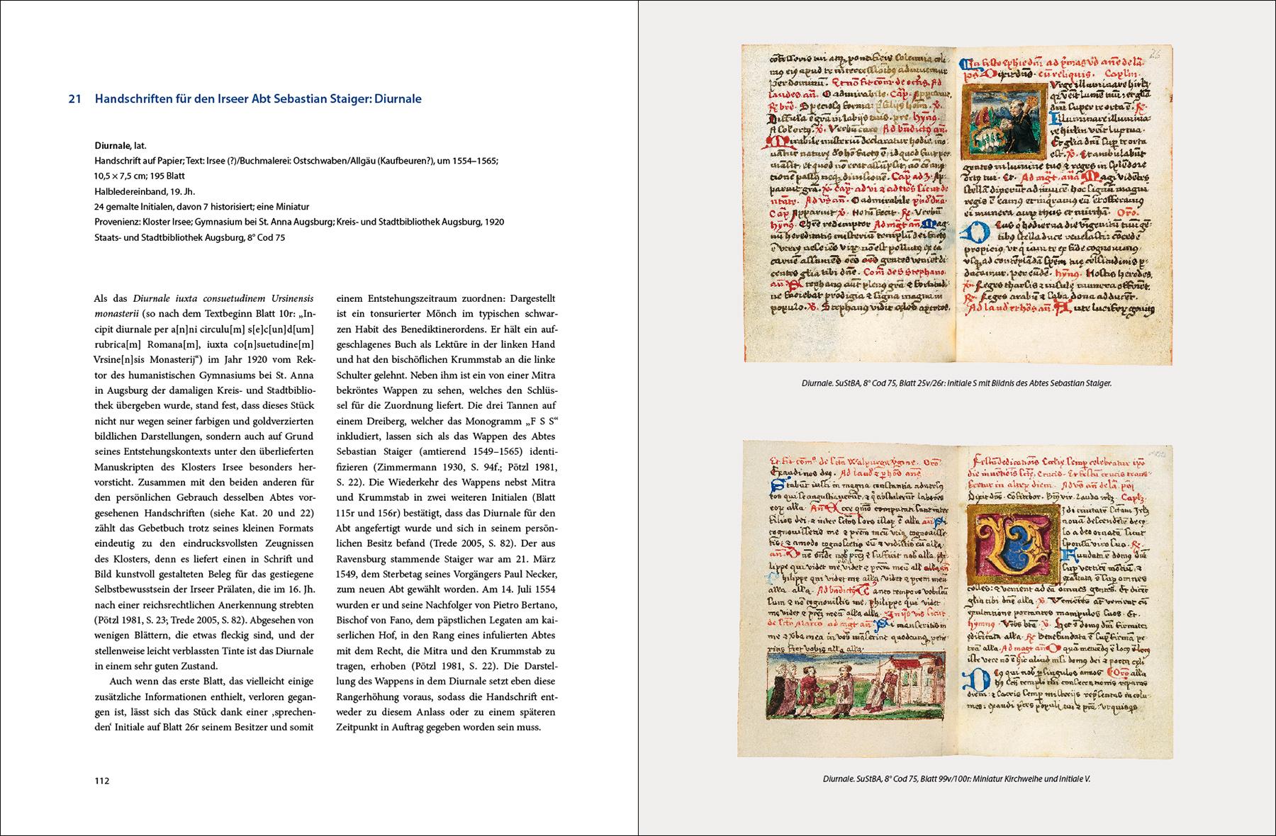 """Katalogband """"Abtransportiert, verschwunden und wieder sichtbar gemacht"""" (Bibliothek Kloster Irsee), p. 112–113"""