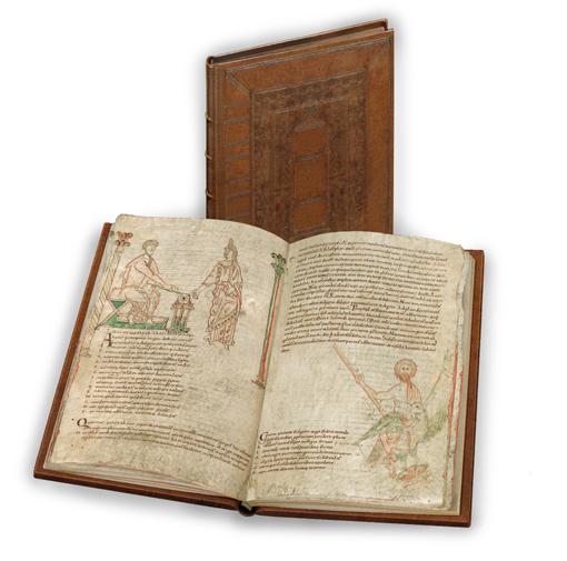 Sternbilder der Antike, Faksimile-Edition, Band stehend und aufgeschlagen