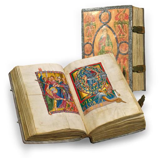 Bamberger Psalter, Faksimile-Edition, Band stehend und aufgeschlagen