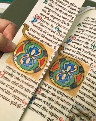 Stammheimer Missale, Andruckvergleich, Gold-Silber-Test