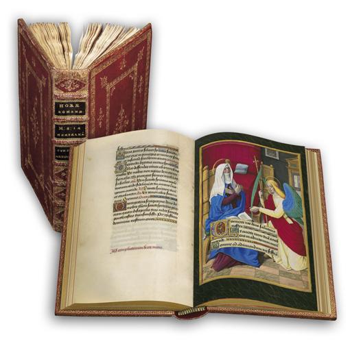 Briçonnet-Stundenbuch, Faksimile-Edition, Band stehend und aufgeschlagen