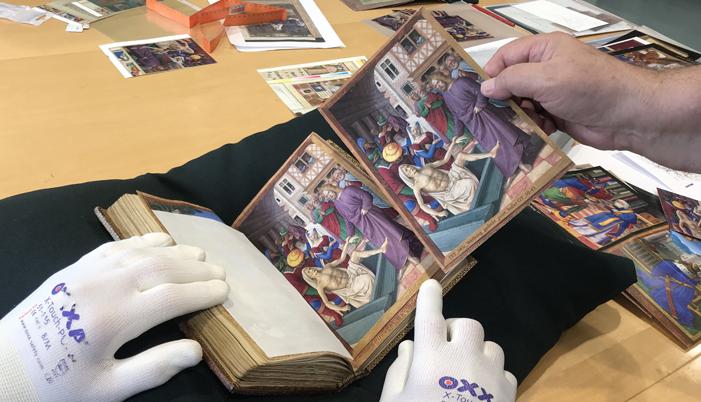 Originalvergleich und Farbkorrektur der Andrucke vom Briçonnet-Stundenbuch im Teylers Museum in Haarlem