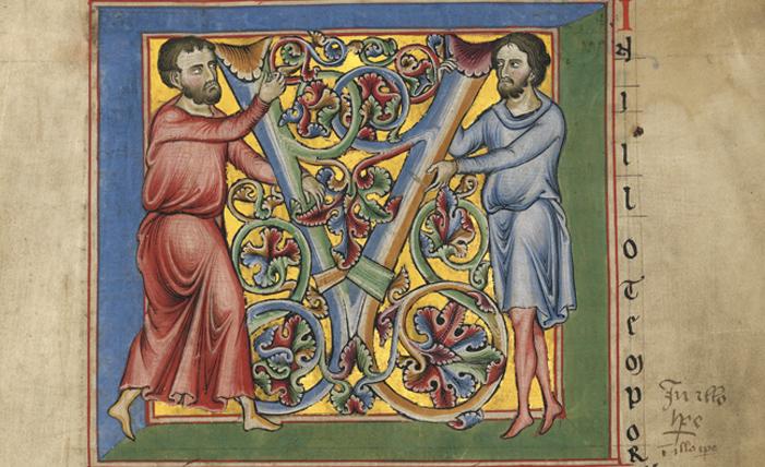 Brandenburger Evangelistar, Initiale M