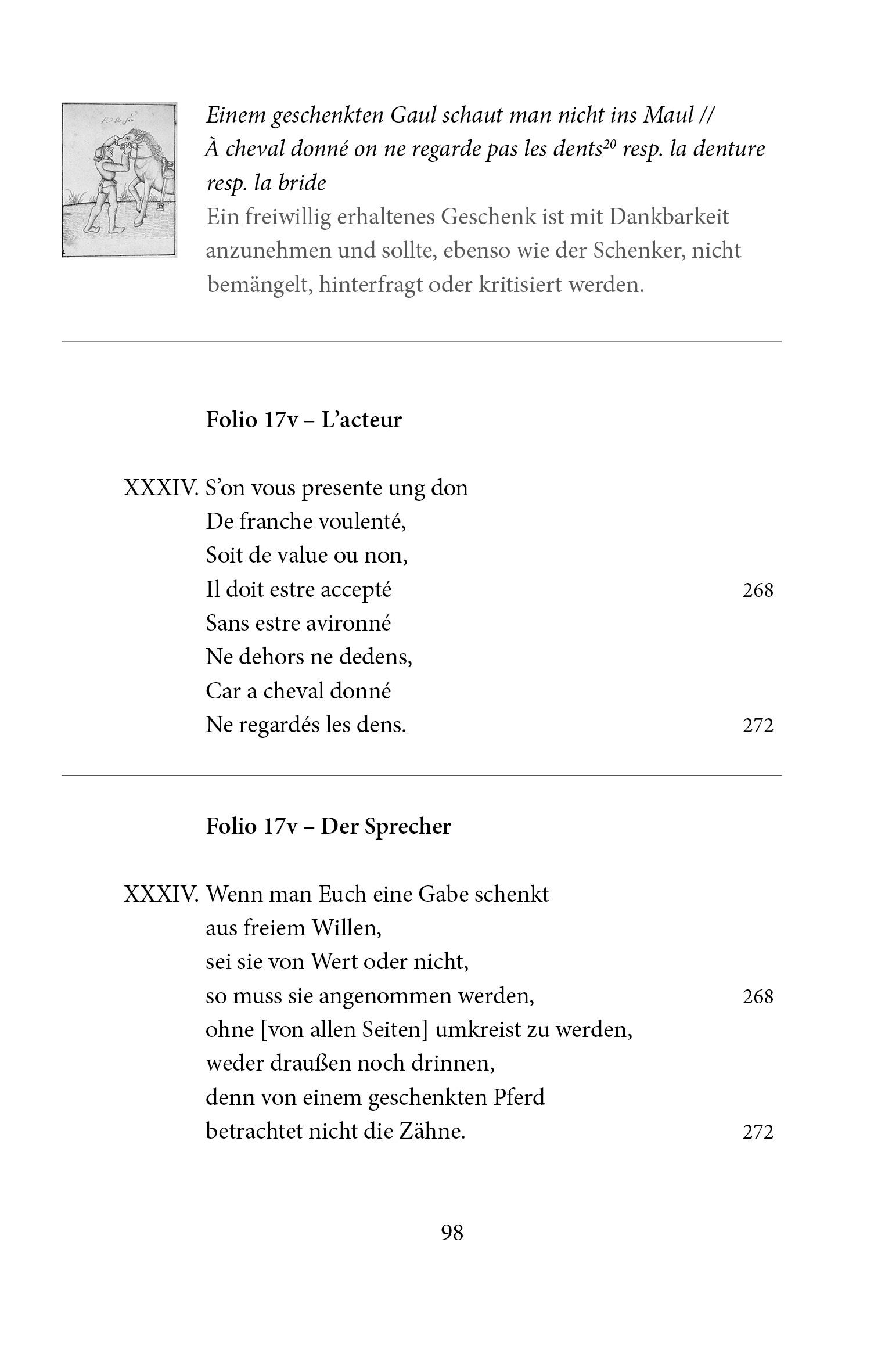 Kunstbuch-Edition: Proverbes en rimes, Begleitband S. 98
