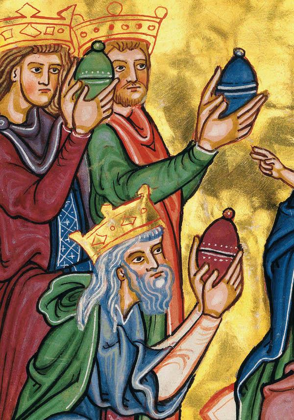 Bamberger Psalter, Detail Könige, fol. 8v