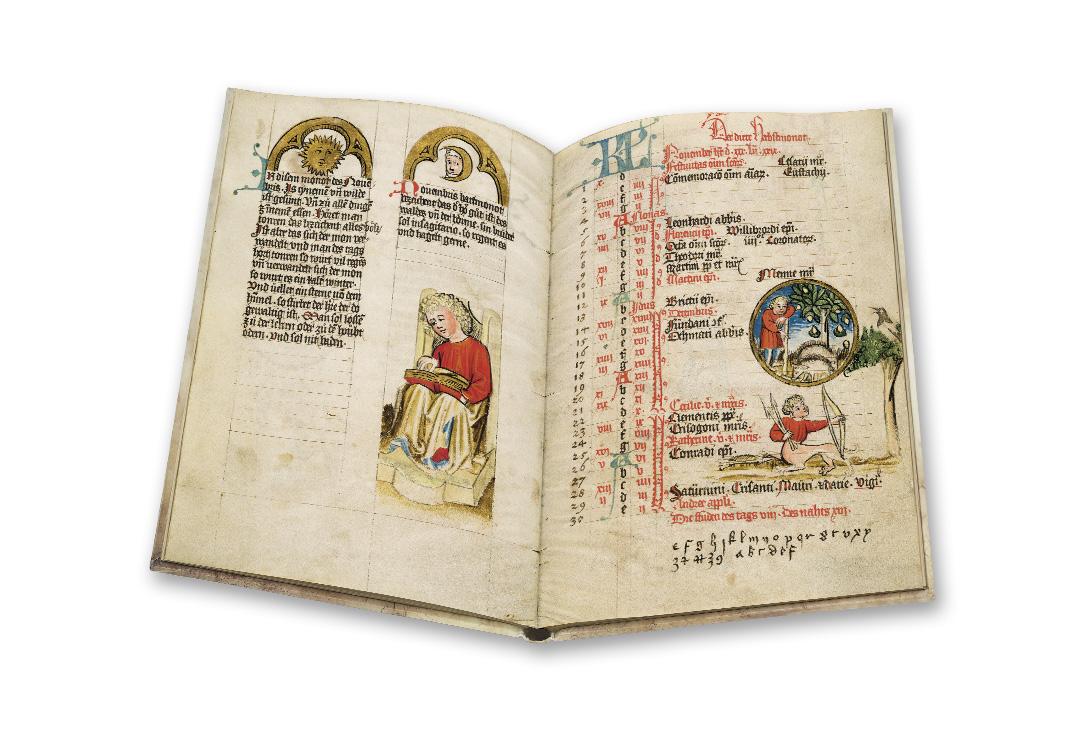 Un calendrier astrologique et médical