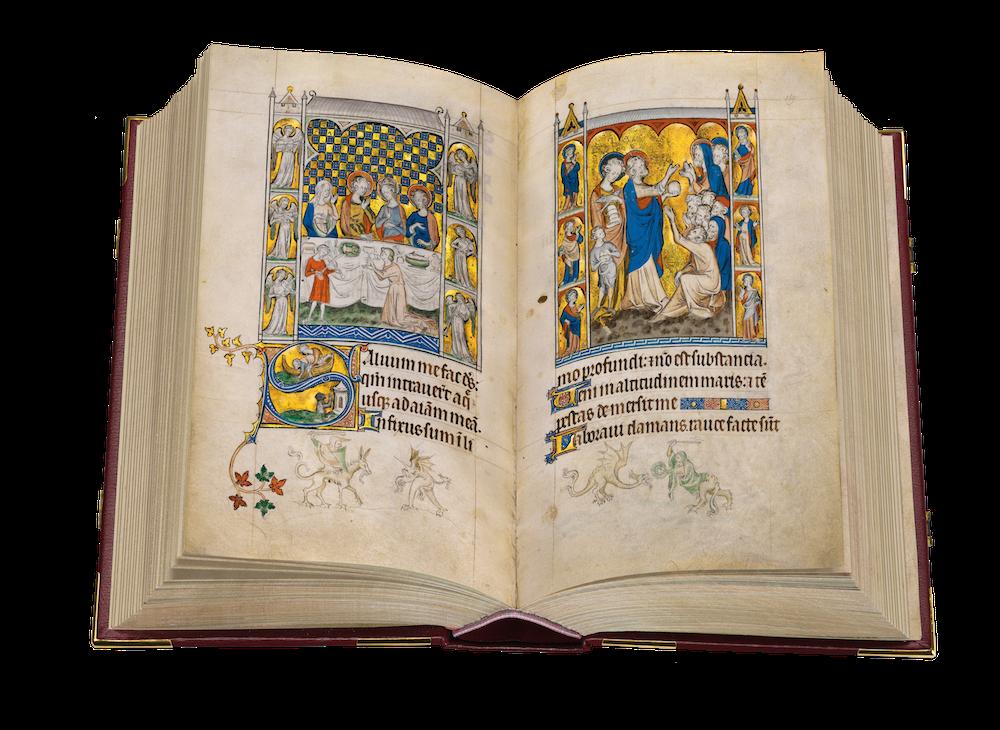Queen-Mary-Psalter fol. 168v-169
