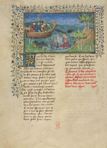 Pariser Alexanderroman, fol. 77v